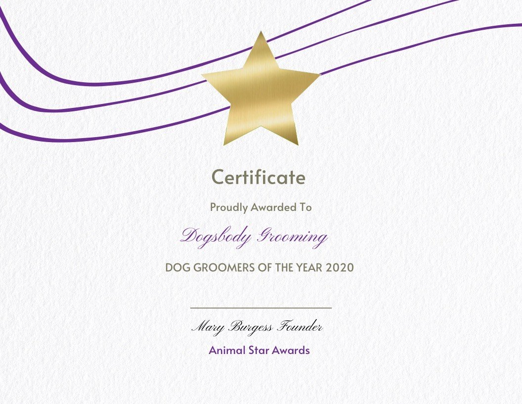 Dog Groomers of the Year - Dogsbody - Animal Star Award 2020